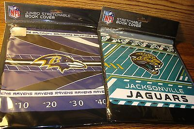 Baltimore Ravens Book Cover - NFL #2 (Two) Fabric Book Covers * Jacksonville JAGUARS & Baltimore RAVENS    New