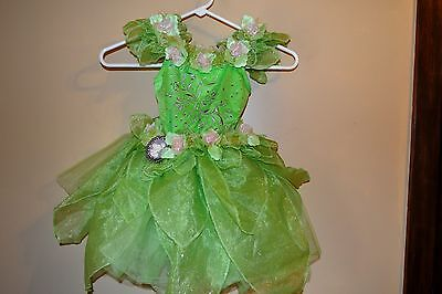 Disney amazingTinkerbell Lime green costume/halloween girls xs ()