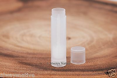 50 Bulk Brand New (empty) Natural Clear Lip Balm Tubes & Caps Containers -