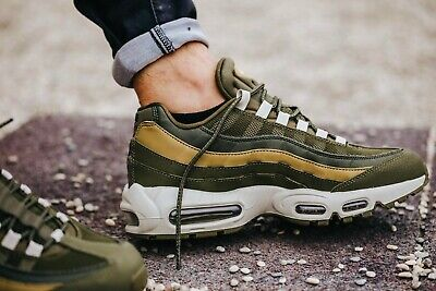 BNWB & Authentic Nike ® Air Max 95 Essential Olive & Golden Trainers UK Size 8.5