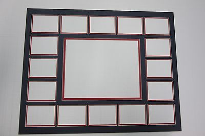 Photo Mat 16x20 for 16 ACEO SPORTS CARD and 8x10 photo black with red liner