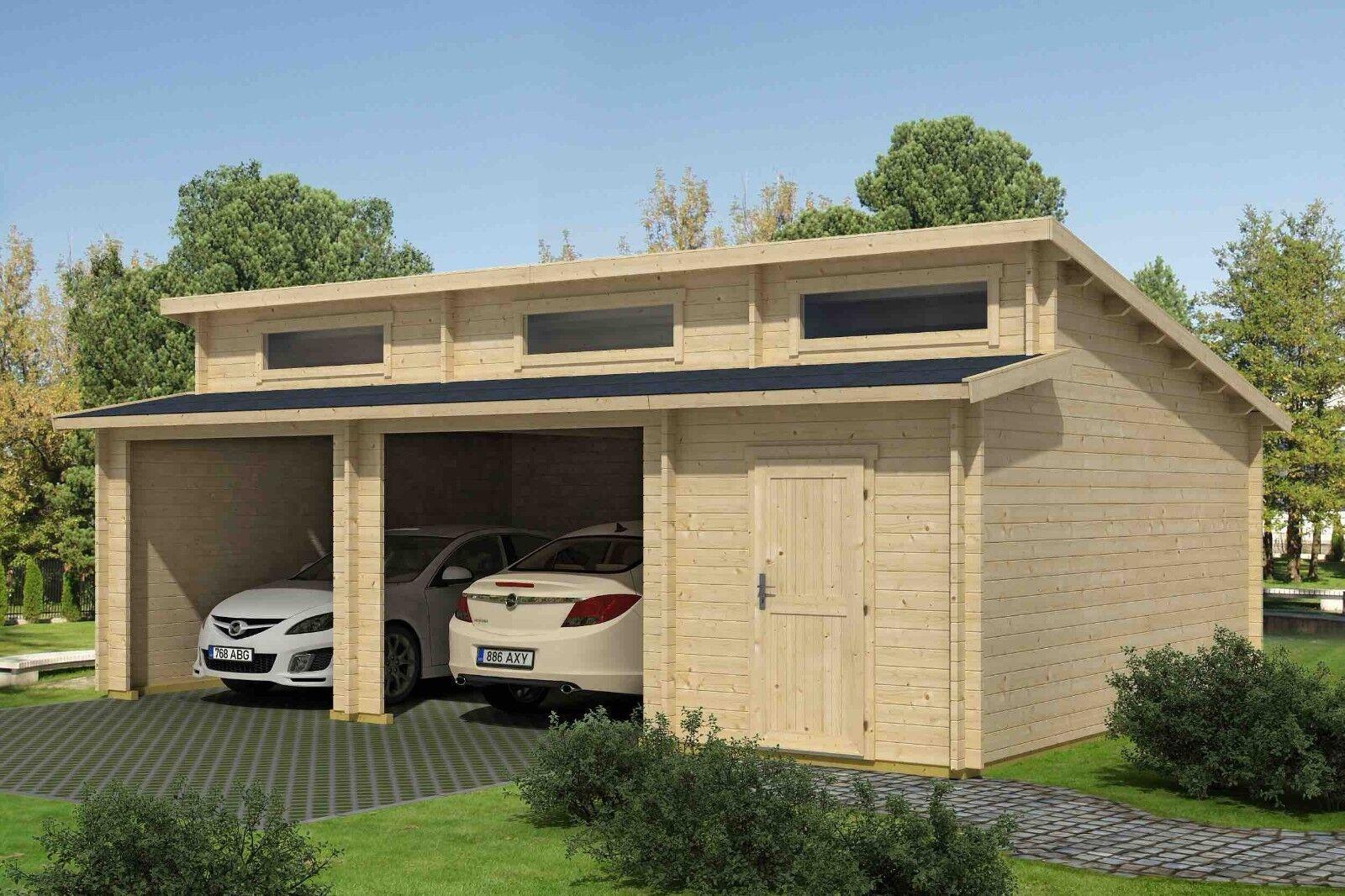 Holzgarage Satteldach Fertiggarage Carport Gartenhaus