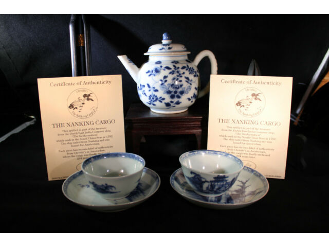 Collection of Chinese Blue & White Porcelain incl Nanking Cargo Shipwreck
