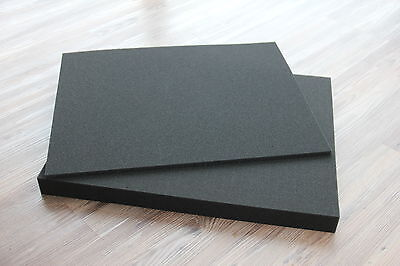 1x Rasterschaumstoff Würfelschaumstoff Fotokoffer 500x400x40mm incl. Bodenplatte