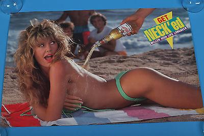 "Miller high life beer poster long neck get neck'ed 30""x20"" bikini poster"