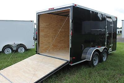 6x12 Enclosed Cargo Trailer Tandem Dual V-nose Utility Motorcycle 14 Box Hauler
