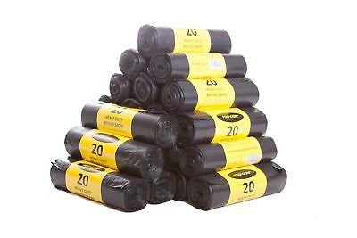 200 Large 80 Gauge HEAVY DUTY Black Bin Bags/Rolls/Refuse/Sacks Rubbish Liners