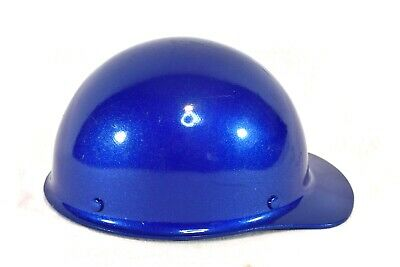 Msa Skullgard Blue Size Medium Fiberglass Hard Hat Miner Safety Cap Suspension