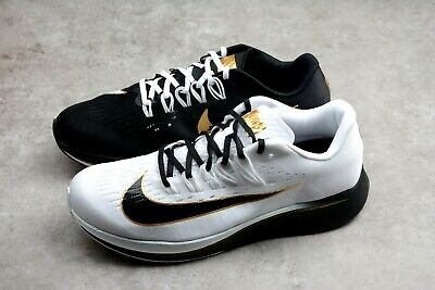 f20e164def07a NIKE ZOOM FLY MISMATCH RUNNING SHOES BLK WHT GOLD MEN SIZE 11 NEW 880848-006
