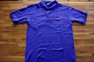 1997 Vintage Apple Computer Logo Polo shirts M size Blue rainbow promo