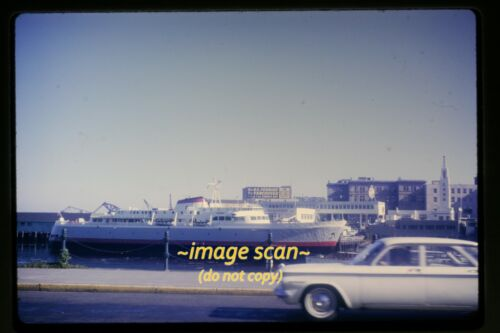 Passenger Ferry Ship at Vancouver in 1964, Original Slide g23b