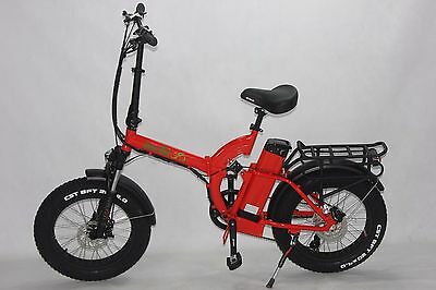 Green Bike USA GB500 fat tire folding Electric Bicycle 8FUN 500W MOTOR+48V/15.6A