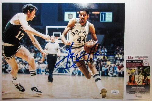 George Gervin 'The Iceman' Signed Autographed San Antonio Spurs 11x14 Photo JSA
