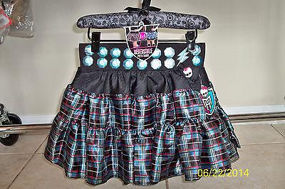 Mädchen Monster High Doppelseitig Petti Rock Frankie Kostüm KLEID S/M - Rock Monster Kostüm