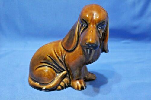 Adorable Basset Hound Dog Figurine Porcelain Brown Made in  Brasil
