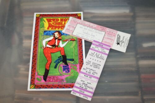 Red Hot Chili Peppers - 2 Concert Tickets + Flyer   - FREE POSTAGE -