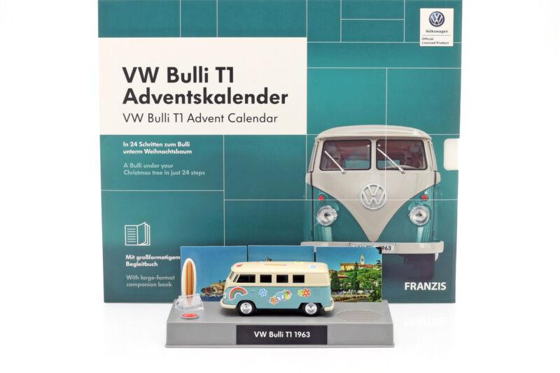 VW Bulli T1 Adventskalender 2019: Volkswagen VW Bulli T1 türkis 1:43 Franzis