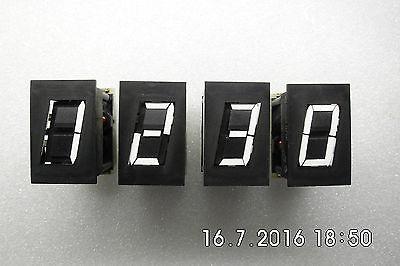 7 Segment Anzeige Ziffernanzeige Zahlenanzeige Klappziffern Klappzahlen 4 Stück