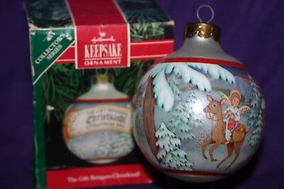 "HALLMARK Keepsake Glass Ornament ""Christkinol"" 19901 - Christmas Holiday"