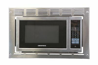 RV Motorhome Greystone Stainless Built-in Microwave Oven 0.9 Cu Ft w Trim Kit