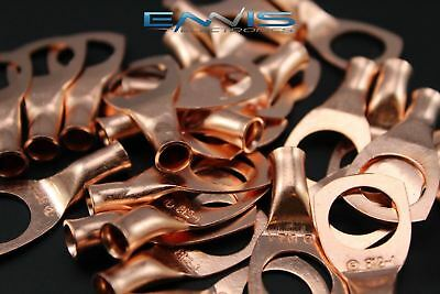 8 Gauge Copper 12 Ring 10 Pk Crimp Terminal Connector Awg Ga Car Eye Cur812