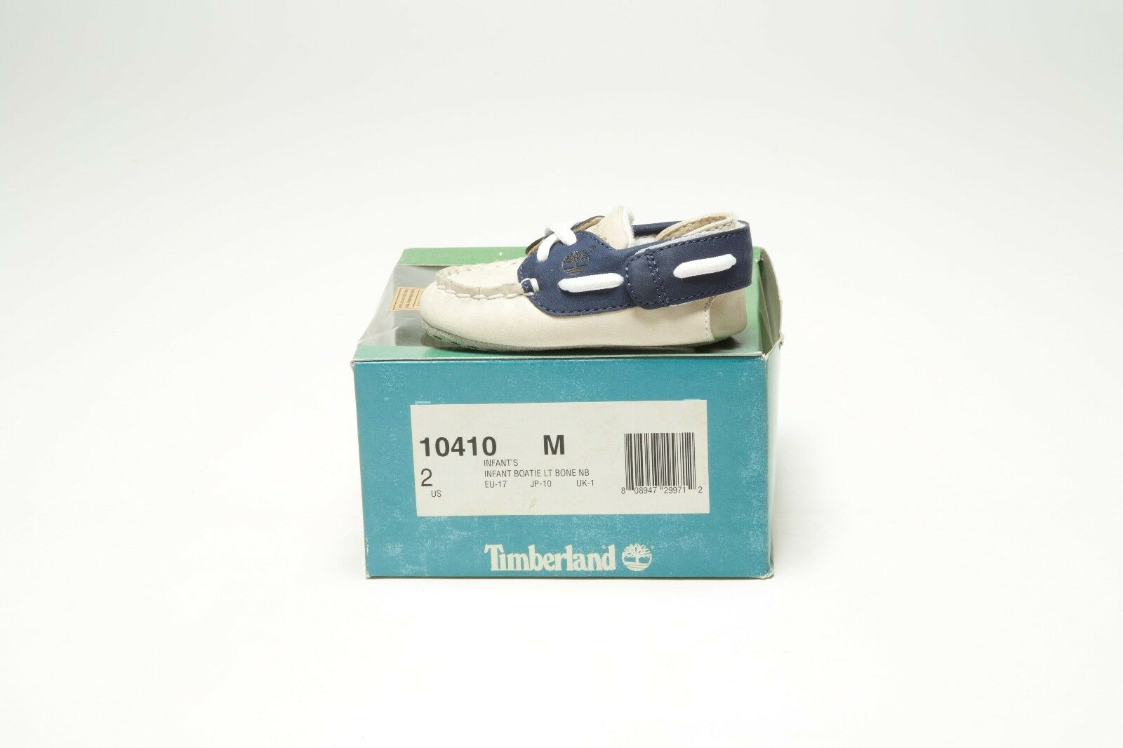 VINTAGE TIMBERLAND INFANT BOATIE 10410 BONE WHITE/NAVY