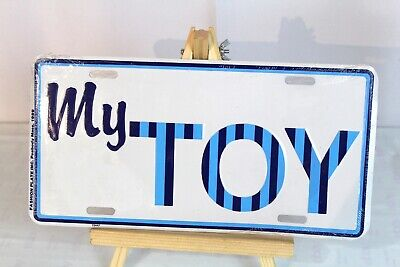 "1989 ""My Toy"" ATV/Car/Truck/Boat/Skidoo/Seadoo Novelty Metal License Plate - NEW"
