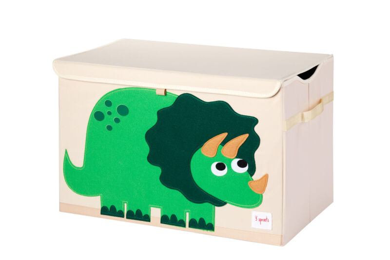 3 Sprouts Kids Toy Chest - Storage Trunk for Boys and Girls Room, Dinosaur