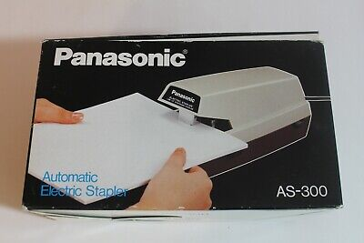 Panasonic Commercial As-300 Electric Stapler W Adj Depth Box- Tested