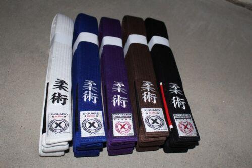 THICK Jiu Jitsu BJJ Belt Black Brown Purple Blue White A1 A2 A3 A4 A5 A6 X-GUARD