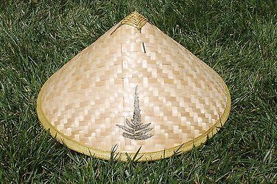Asiatisch Chinesisch Vietnamesisch Bambus Stroh Sonne Reis Garten - Asiatischer Strohhut