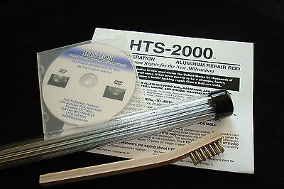 10 18 Aluminum Brazing Rods Hts- 2000 Low Temp Complete Kit Repairs Easily