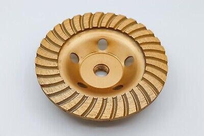Diamond Grinding Cup Wheel 5 Inch Continuous Turbo Grinding Cover With Thread