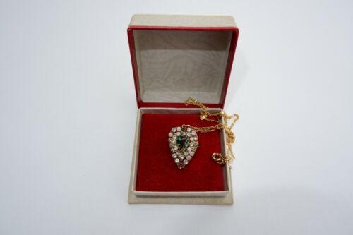 SUFFRAGETTE  EDWARDIAN 9CT GOLD PENDANT / BROOCH & CHAIN -C1900