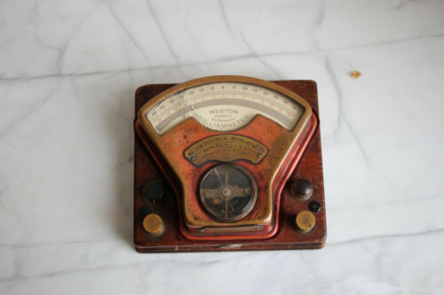 Weston Direct Current Milliammeter w/ original case dated 1903