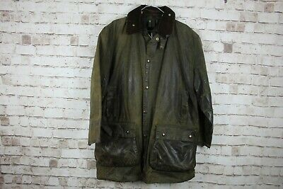 Barbour A400 Green Lined Wax Coat size 102Cm/40In No.M166 18/2