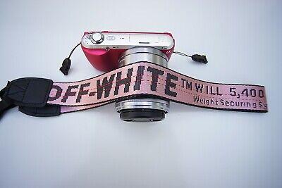 Off white Camera neck strap sony cannon panasonic nikon