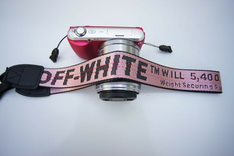 Off white Camera neck strap sony cannon panasonic nikon