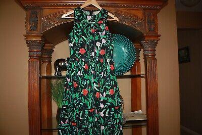 KATE SPADE JARDIN BOTANICAL POPLIN ZANDRA FLOWER HUMMINGBIRD DRESS Size 2