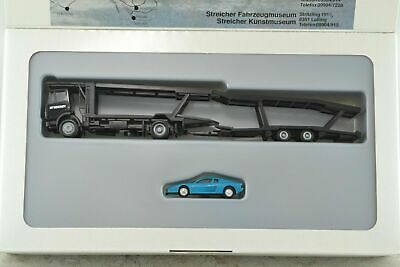 Herpa Car Transport Truck w/ Ferrari Car HO Scale 1:87