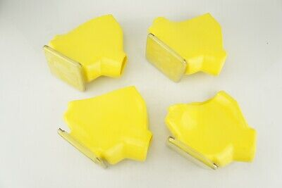 Lot Of 4 New Nozzle Talker Talkers Gas Pump Nozzle Cover 3 Square Yellow