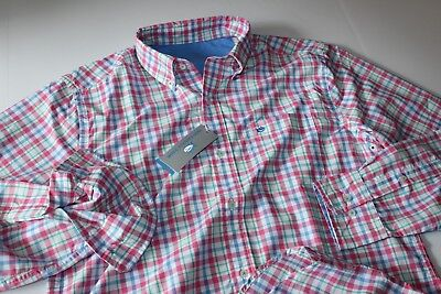 Southern Tide Shirt Cliff Walker Red Snapper 2165 Classic Fit LS New Small S for sale  Shipping to India