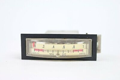 Vintage Weston Panel Meter Dc Ma Milliamperes Model 121 Range 0 To 1