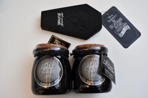Disney Nightmare Before Christmas Sally Deadly Night Shade Jar with Bath Salt &+