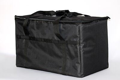 New Excellent Insulated Food Delivery Bag Pan Carrier Black Nylon 23x13x15