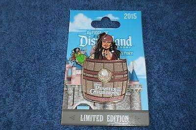 Disney 2015 Disneyland Piece of History PIRATES JACK SPARROW Slider LE Pin