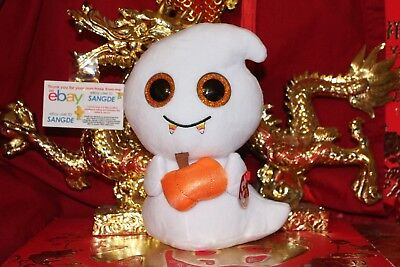"Ty BEANIE BOOS SCREAM THE BUDDY WHITE GHOST-9""-MWNMT-2017 RELEASE-NICE GIFT"