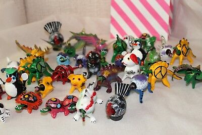 - set of 30 Mexican Bobbleheads Hand Painted Disney, dogs chicken animals turkey