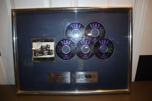 Aerosmith 5X Platinum CD Record Award Framed Presented Plaque PUMP *VERY RARE*