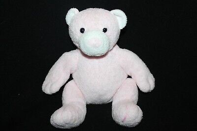 Ty Pluffies Pudder Pink Teddy Bear Plush Stuffed Animal